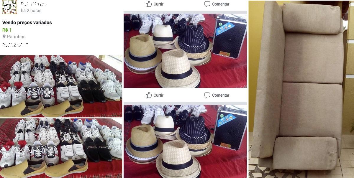 Ex-prefeito de Parintins põe à venda chapéus e tênis usados