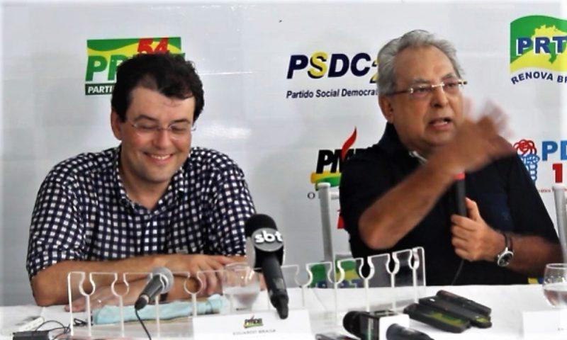 Eduardo Braga e Amazonino Mendes se reúnem no Tarumã