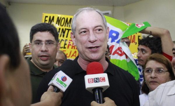 PDT confirma dia e hora da palestra de Ciro Gomes em Manaus