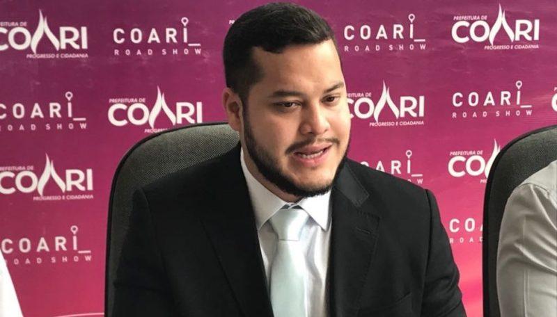 Prefeito revela queda brutal da receita dos royalties em Coari