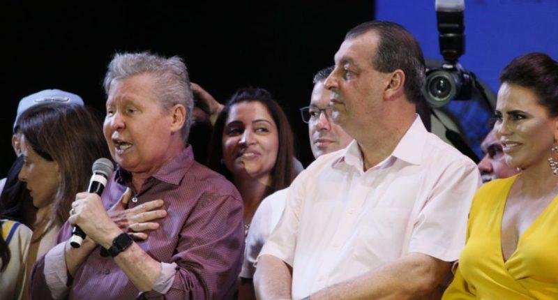 Alckmin Arthur Neto e Omar Aziz na convenção