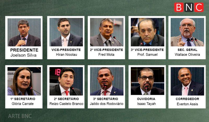 Futura mesa diretora da Câmara de Manaus que será eleita hoje