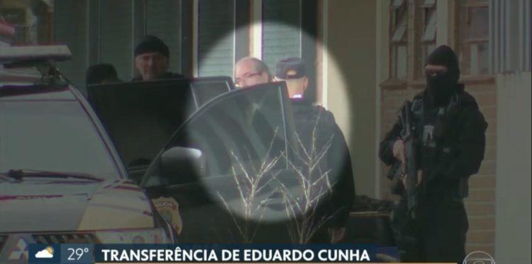 Cunha fica no mesmo presídio onde está o ex-governador Sérgio Cabral