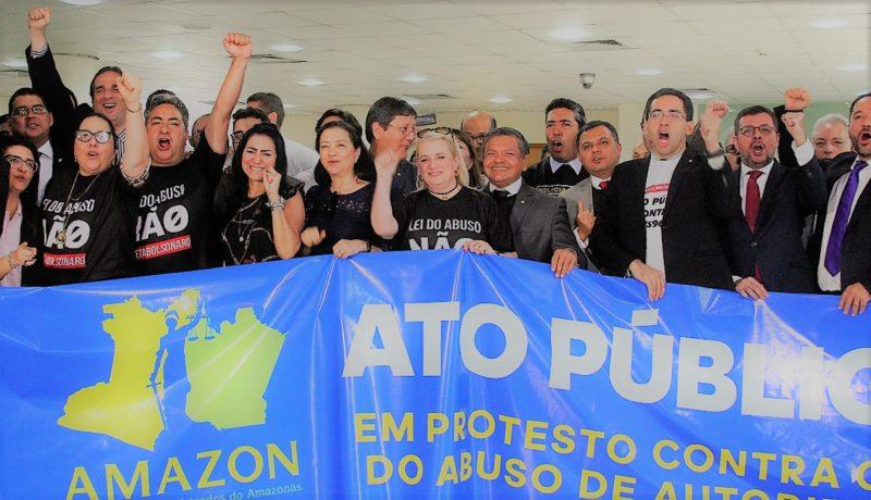 Lei do abuso de autoridade ganha repúdio em ato público em Manaus