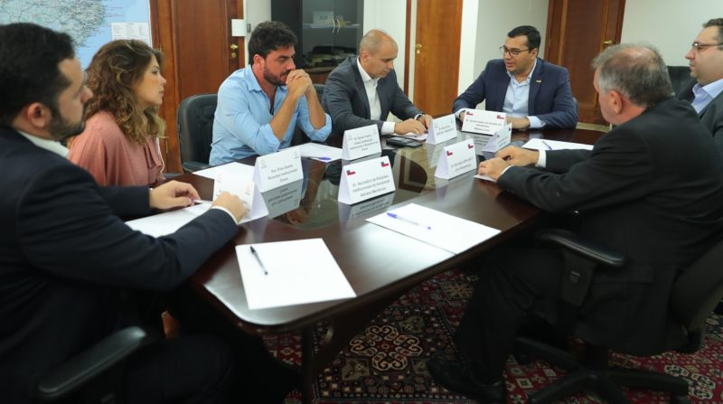 Governador trata com empresa que vai explorar gás do campo do Azulão
