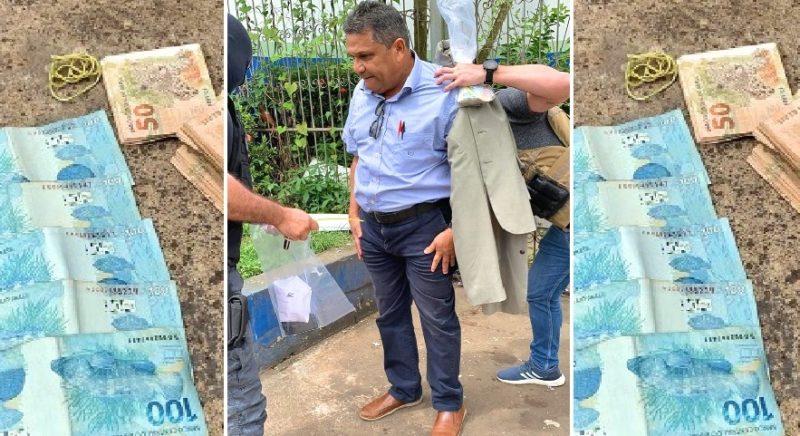 MP-AM divulga fotos da prisão em flagrante de vereador do Iranduba