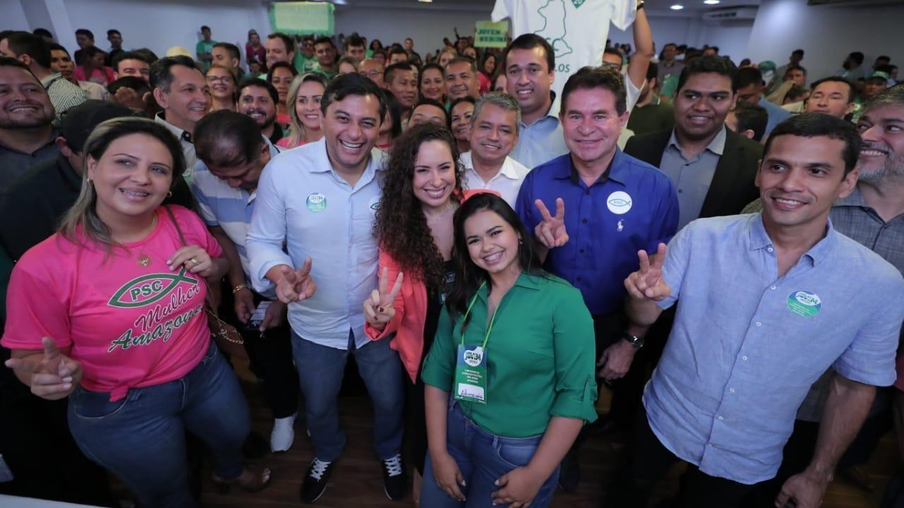 Seminário do PSC reúne Wilson Lima e cogitada para disputar prefeitura
