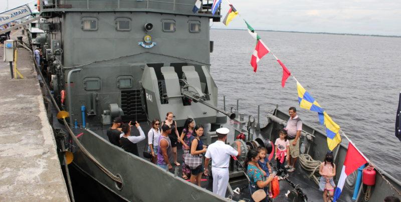 Marinha abre navios para visitação em Manaus no Dia do Marinheiro