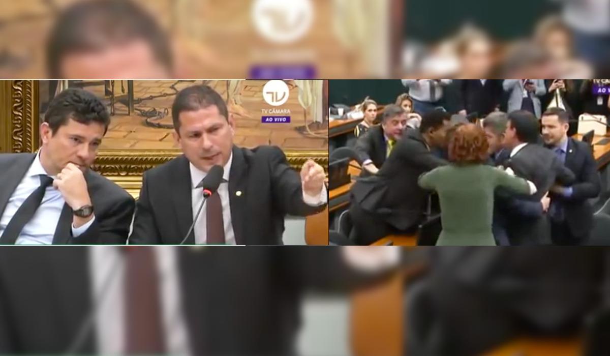 Sessão na Câmara termina com briga e Moro chamado de 'capanga da milícia'