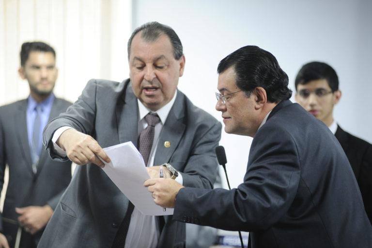 senadores Omar Aziz e Eduardo Braga