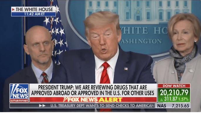 """Trump pede que remédio da málaria seja usado """"imediatamente"""""""