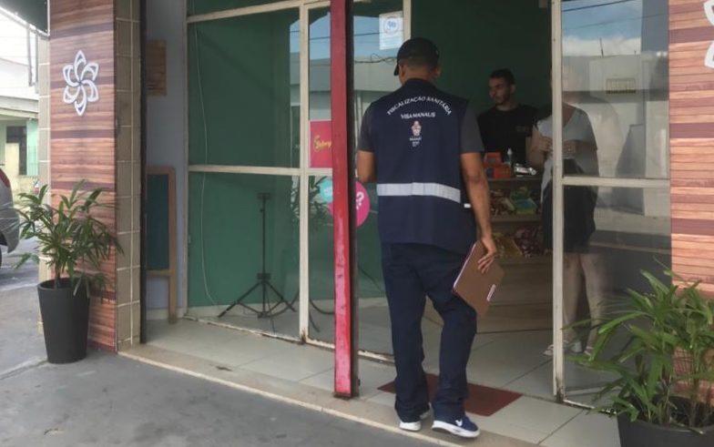 Serviços de alimentação e beleza são interditados pela Visa Manaus