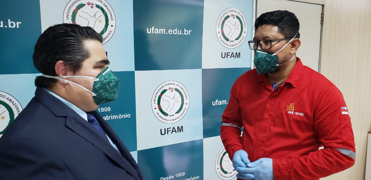 Atem firma parceria com Ufam para doação de álcool 70% ao HUGV