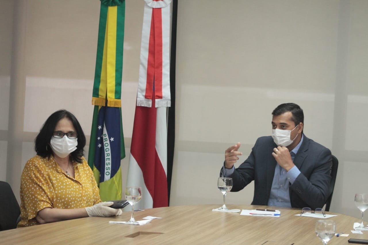 Wilson Lima e ministra Damares alinham proteção aos indígenas