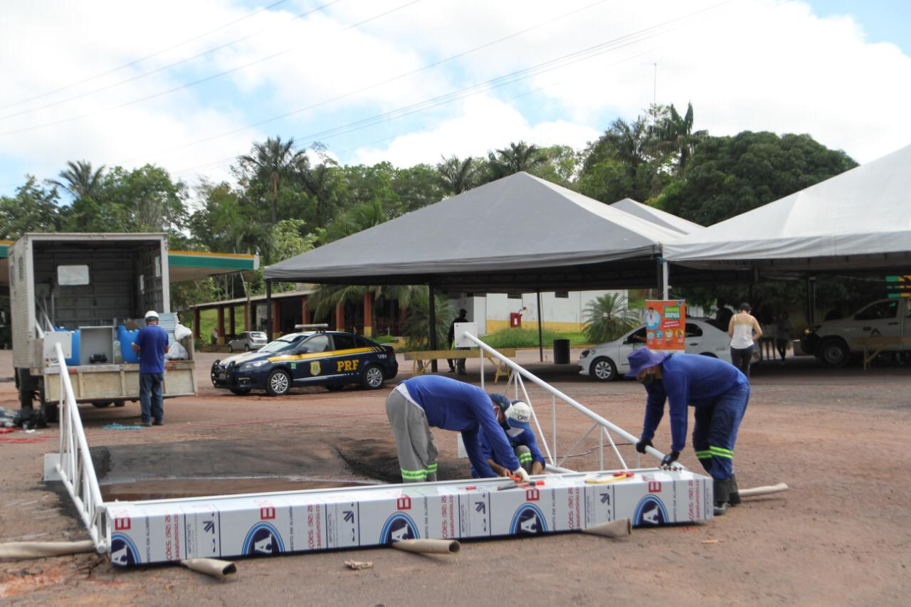 P. Figueiredo instala cabines e arcos de higienização contra o coronavírus