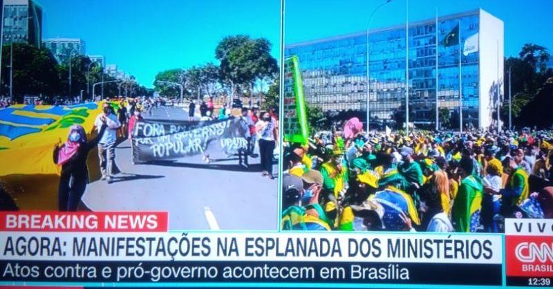 Bolsonaro não vê manhã de manifestações pró e contra seu governo