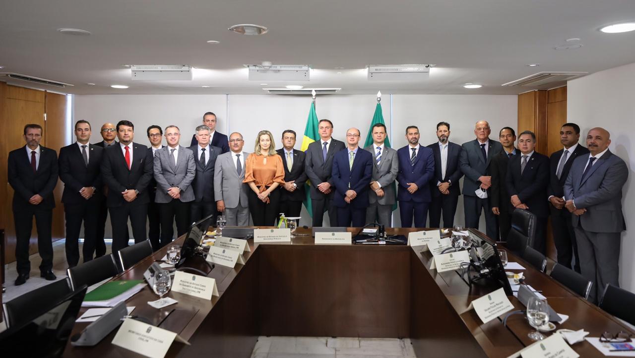 Bonates se reúne com presidente Bolsonaro e ministro da Justiça
