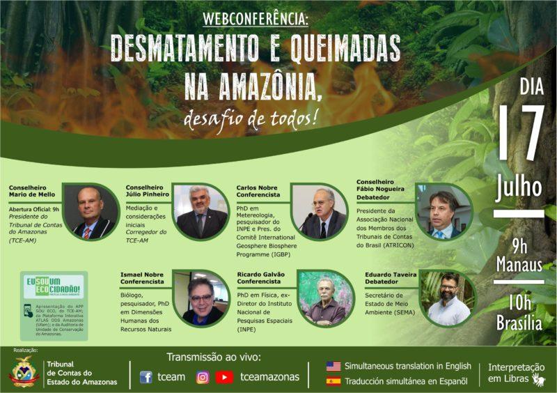 TCE-AM coloca desmatamento e queimada na Amazônia em debate