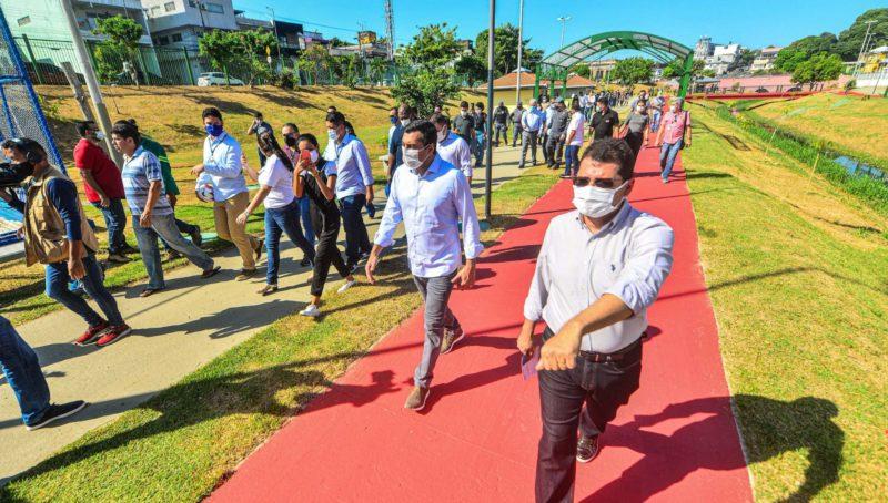 Wilson inicia entrega de parques do Prosamim revitalizados na capital