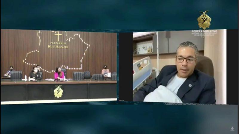 Em recuperação de acidente, Josué Neto participa de sessão da ALE-AM