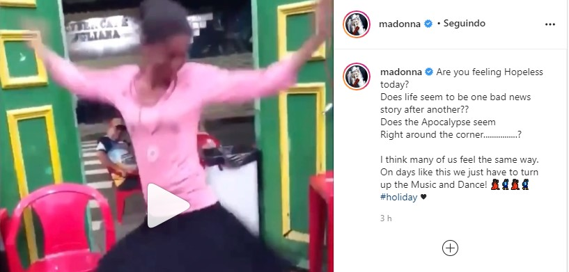Marina Silva de Manaus bomba no Insta da Madonna dançando Holiday