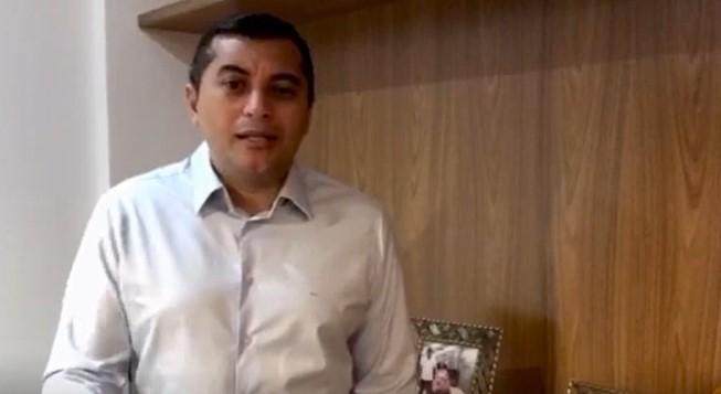Governador Wilson Lima recebe alta médica e se recupera em casa