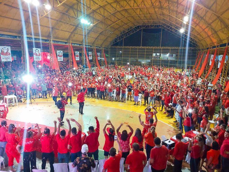 Em convenção, Israel Paulain mostra força política em Nhamundá