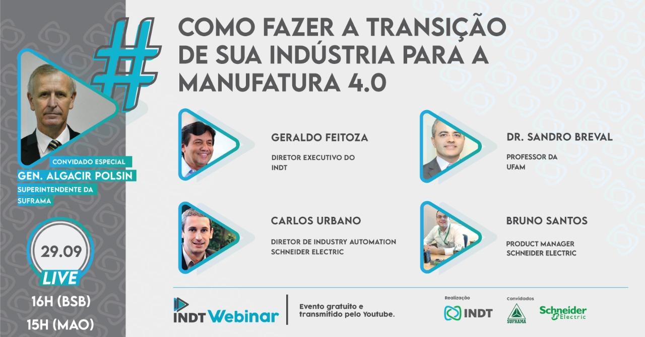 Webinar mostra o processo de transição para a indústria 4.0