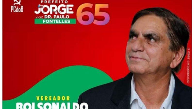 Bolsonaldo, candidato do PCdoB, ignora comunismo e elogia presidente