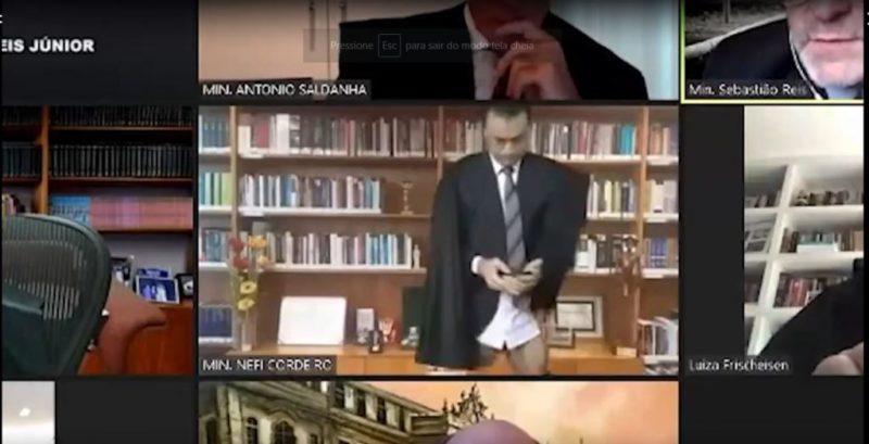 Ministro do STJ aparece sem calça durante sessão no tribunal
