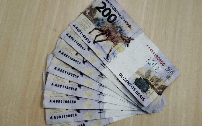 Notas falsas de R$ 200 já circulam antes do brasileiro ver original