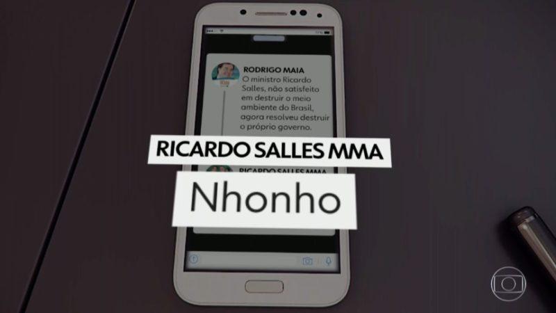 """Salles chama presidente da Câmara de """"Nhonho"""" e apaga conta em seguida"""