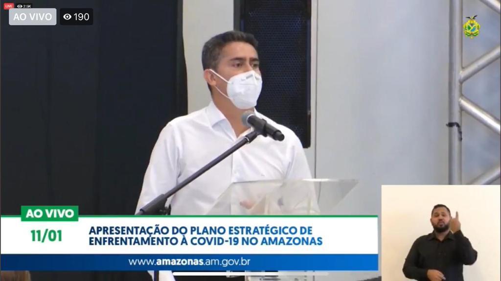 David Almeida pede ao ministro que vacinação comece por Manaus