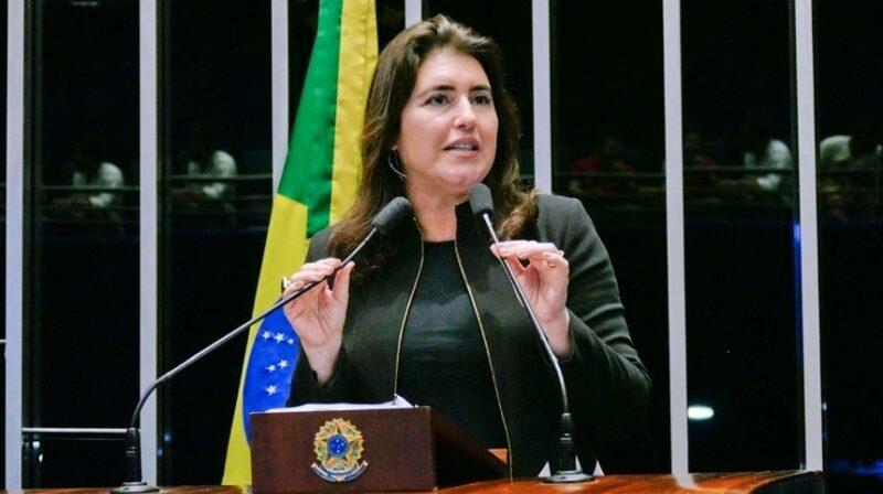 Simone Tebet, do MDB, aguarda adversário pela presidência do Senado