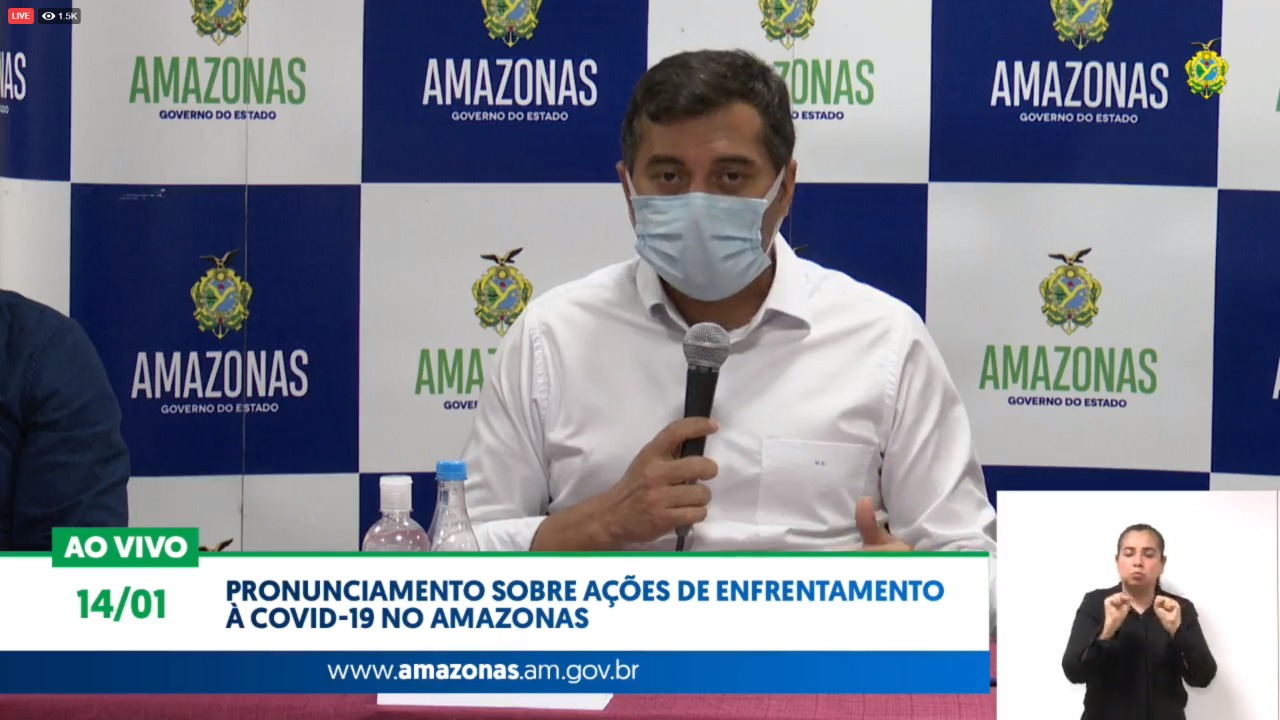 Pacientes da covid do AM serão transferidos para outros estados