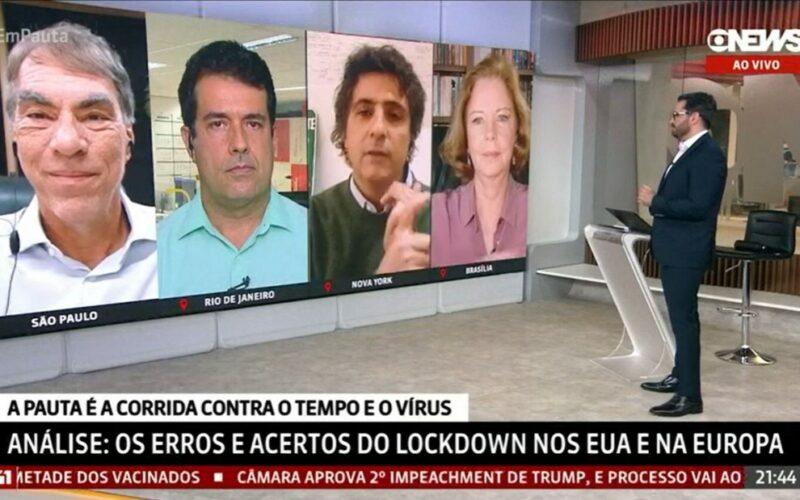 Comentaristas da Globo voltam a bater boca em programa ao vivo