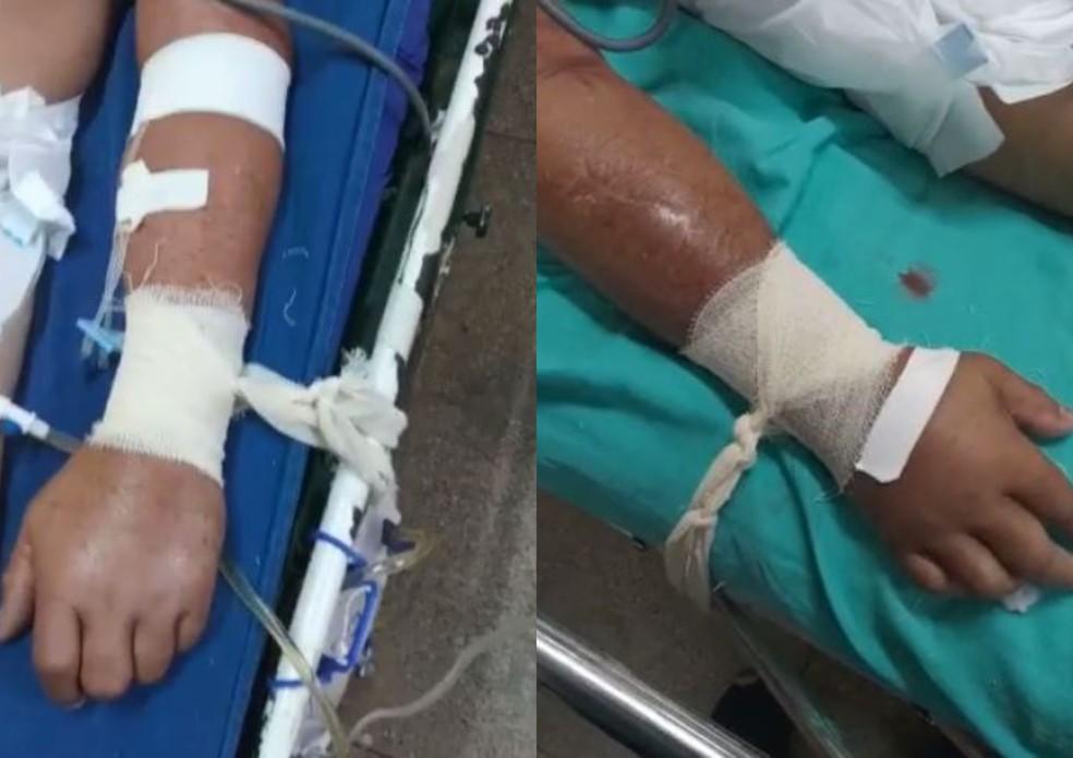 Cenas de pacientes no AM amarrados, sem sedativo, são investigadas