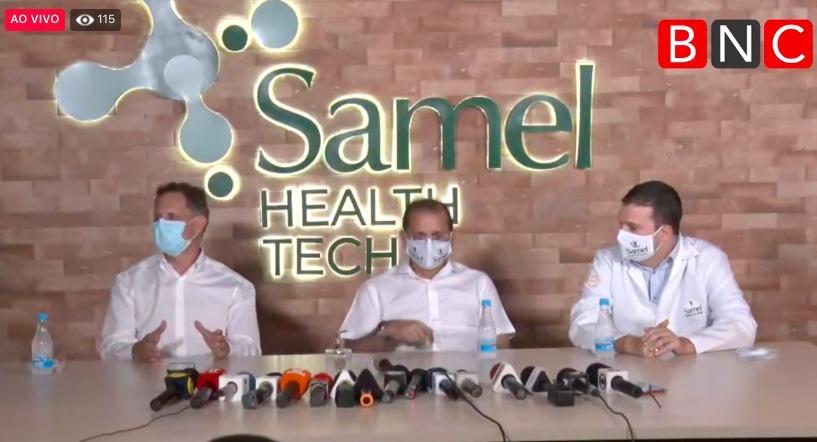 Samel e cientistas mostram êxito de  droga contra covid testada no AM
