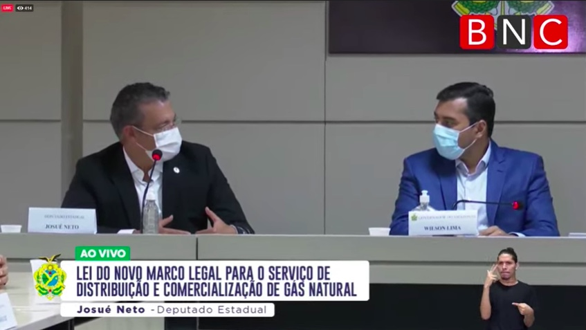 """Para Josué Neto, lei do gás é """"destino"""" a lhe reaproximar de Wilson Lima"""