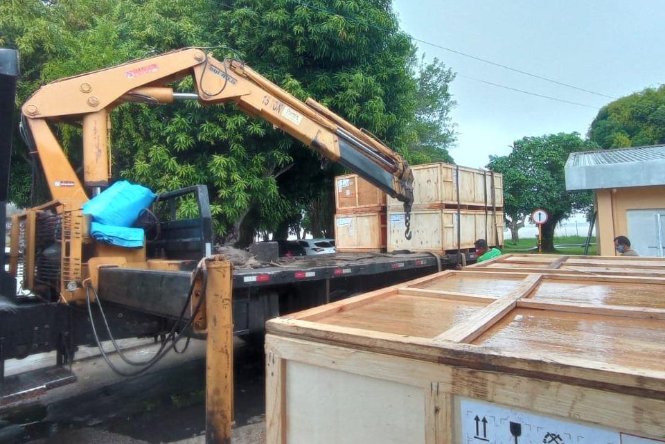 Parintins recebe equipamentos para instalação de leitos de UTI