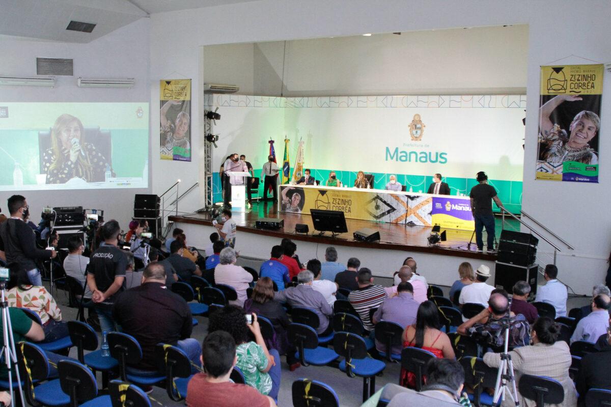 Prefeitura lança edital Prêmio Manaus Zezinho Corrêa com mais de R$ 1 milhão
