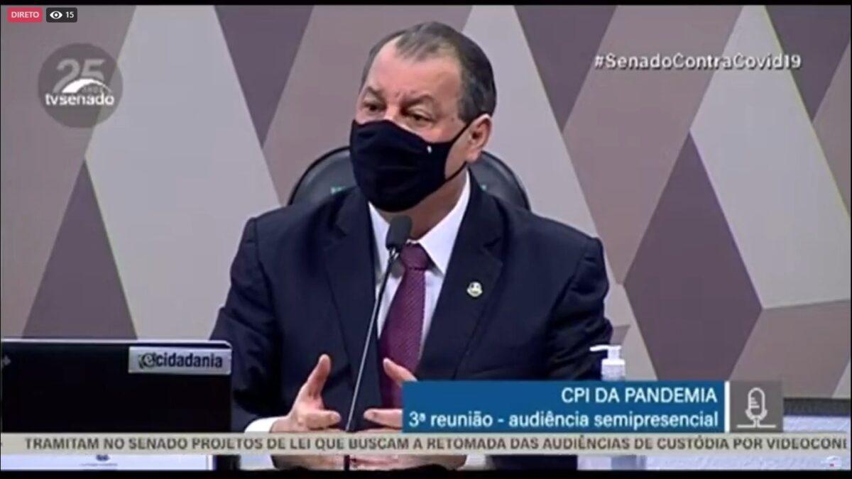 Presidente da CPI da covid exige depoimento presencial de Pazuello