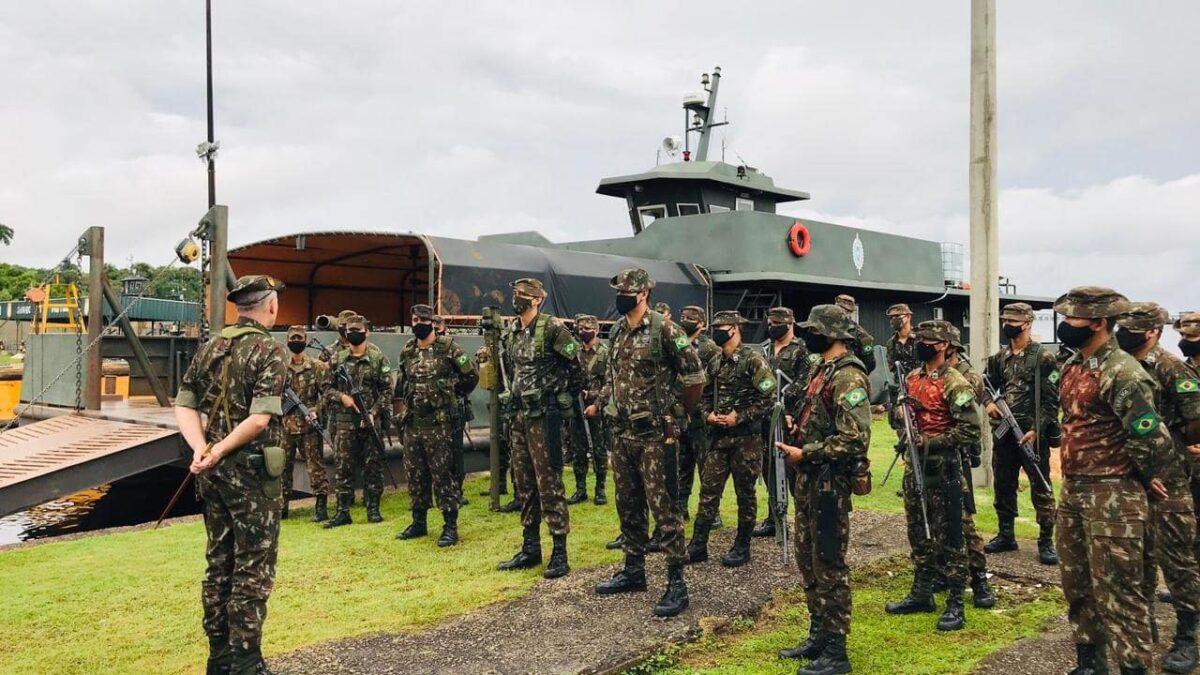 Tropas reforçam operação Amazônia em alerta contra inimigo na região