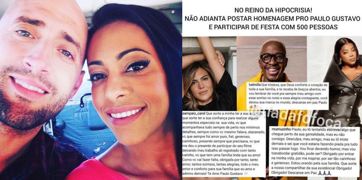 Viraliza bronca de atriz a famosos aglomerados em festa no Copacabana