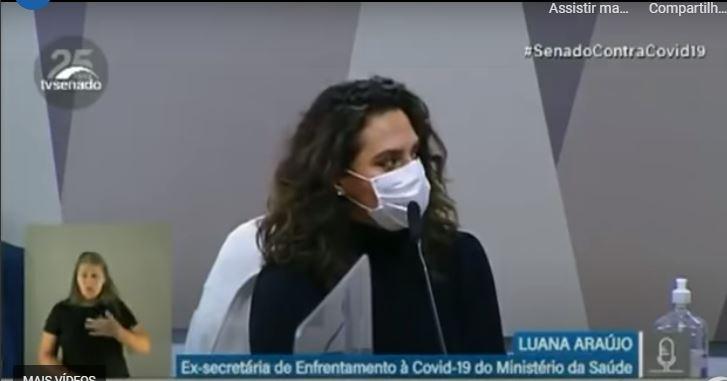 Assessora da Capitã Cloroquina ataca médica Luana Araújo via WhatsApp