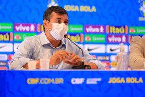 Wilson Lima e CBF asseguram Arena da Amazônia para jogo entre Brasil e Uruguai